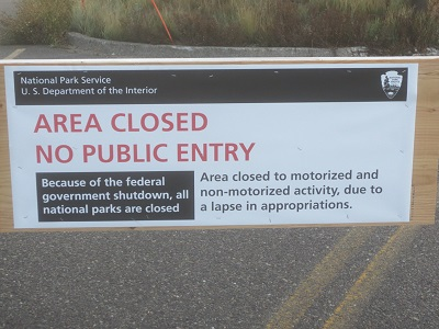 Government Shutdown Grand Teton National Park